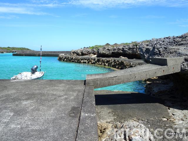 与論島の寺崎漁港