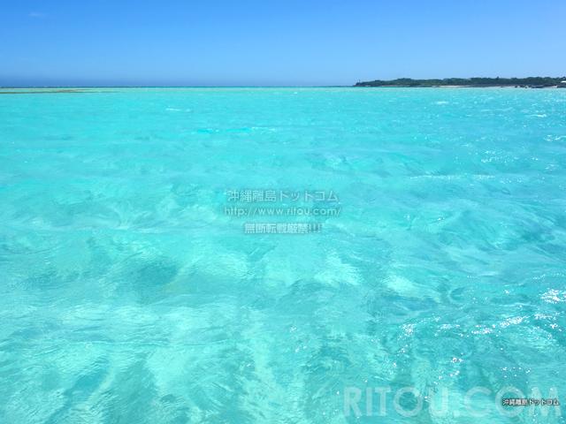与論島の百合ヶ浜の海の色