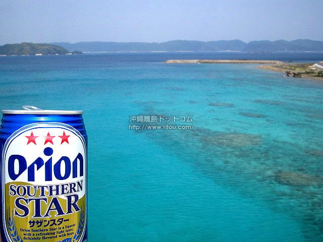 オリオンサザンスターと離島の海(阿嘉島の壁紙/写真)