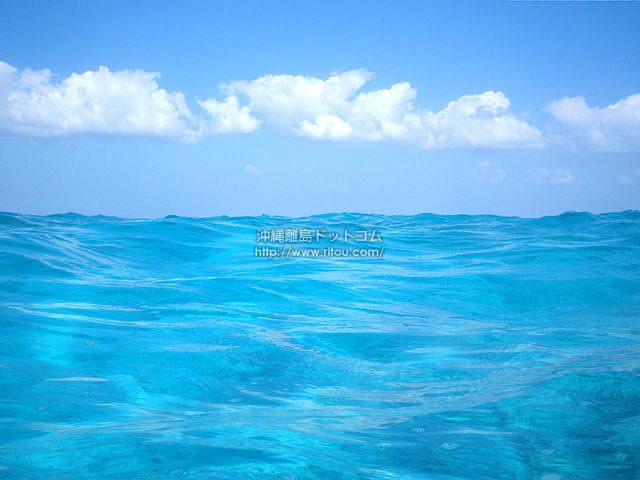 水面に近い海の色(与論島の壁紙/写真)