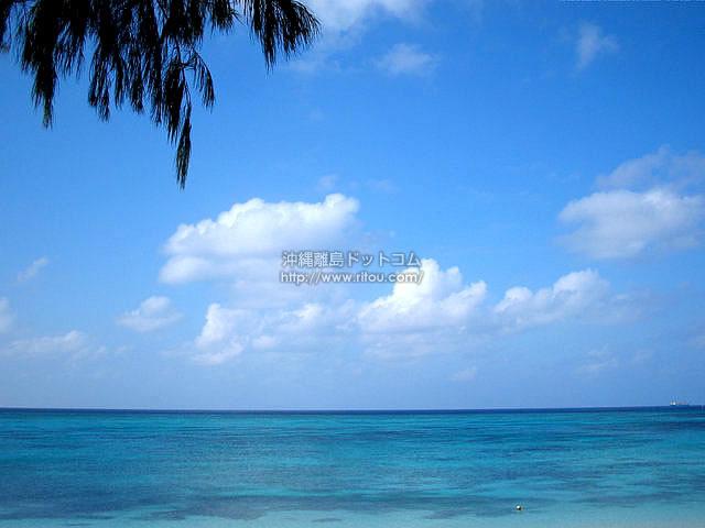 海だけが見える風景(与論島の壁紙/写真)
