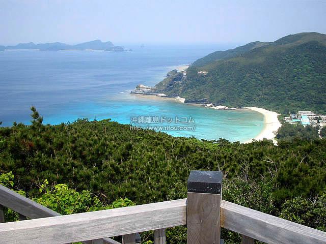 山の上から見る海(渡嘉敷島の壁紙/写真)