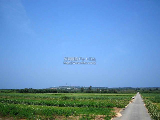 この道はやがてあの高台へ(粟国島の壁紙/写真)