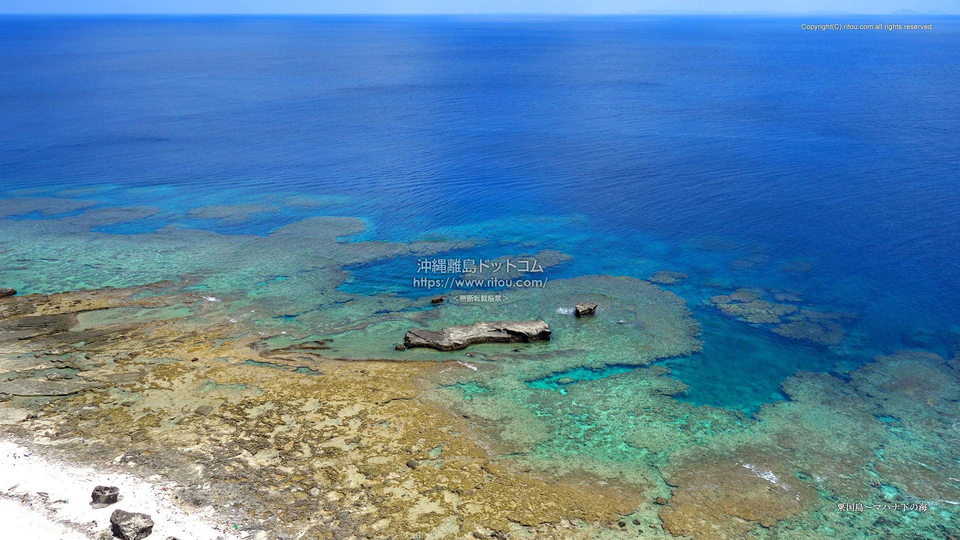 粟国島〜マハナ下の海