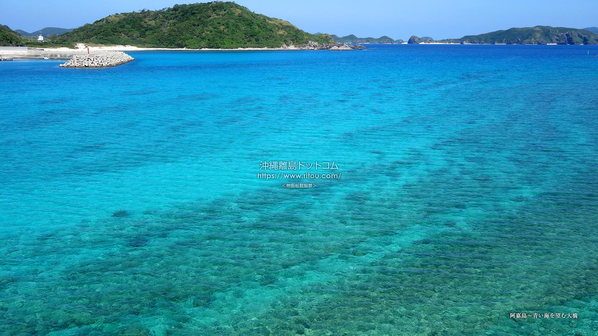 阿嘉島〜青い海を望む大橋