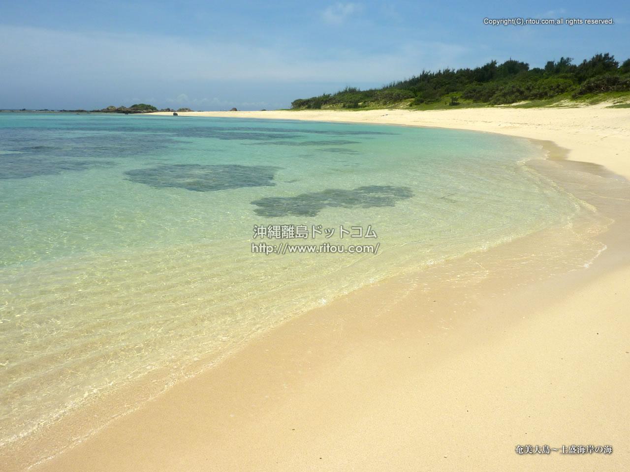 奄美大島〜土盛海岸の海