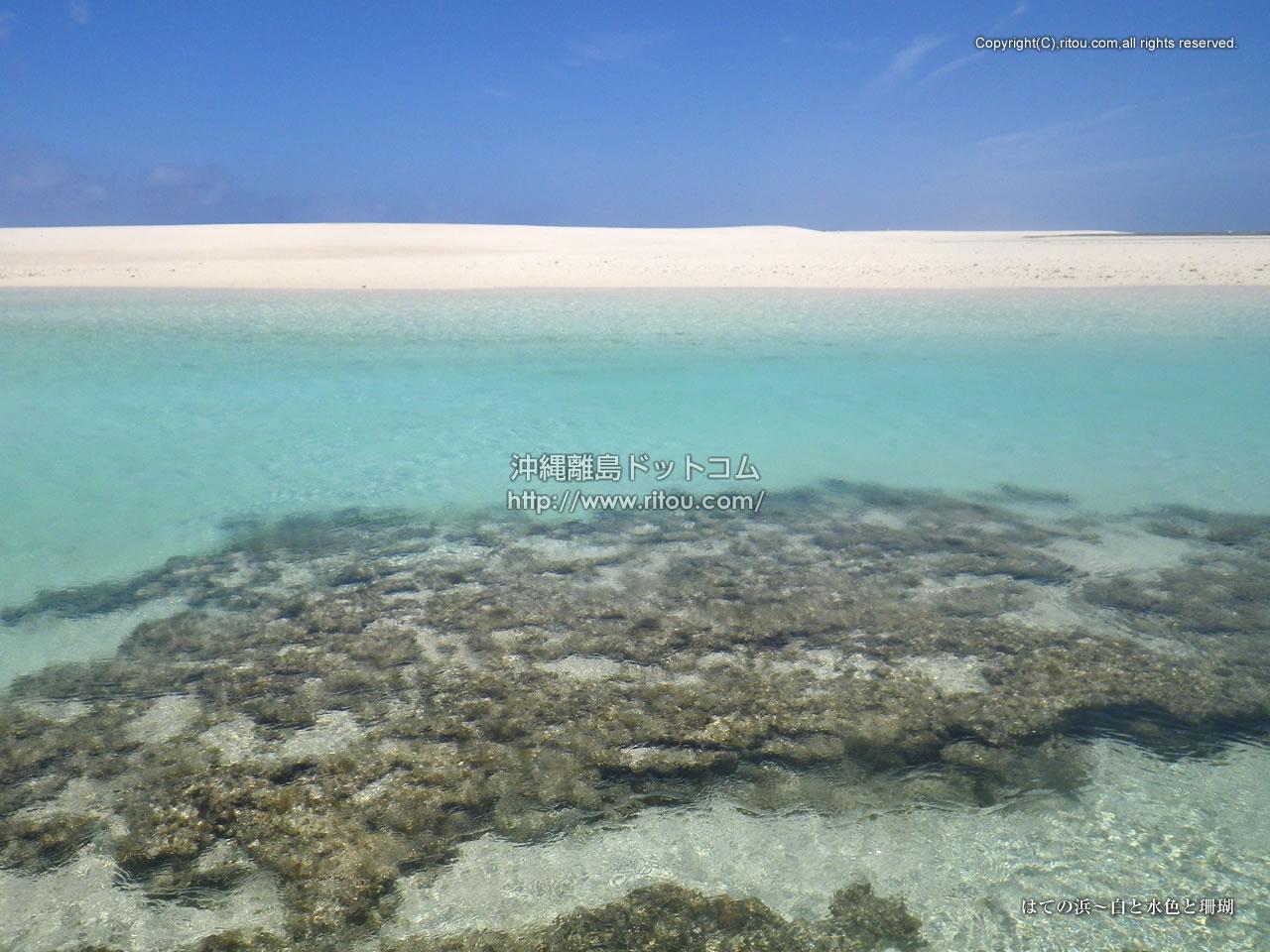 はての浜〜白と水色と珊瑚