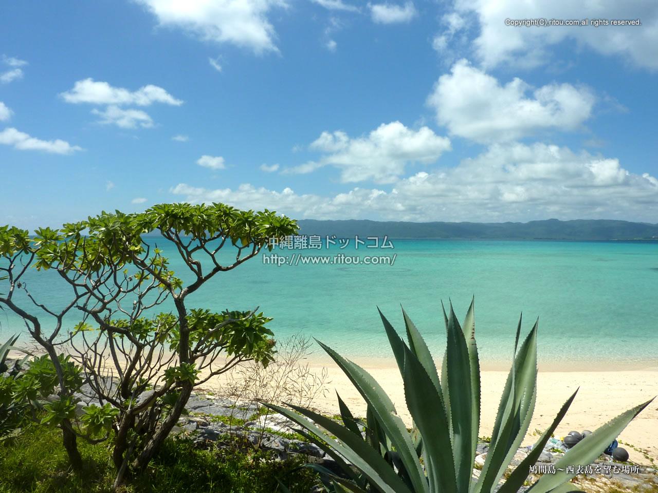 鳩間島〜西表島を望む場所