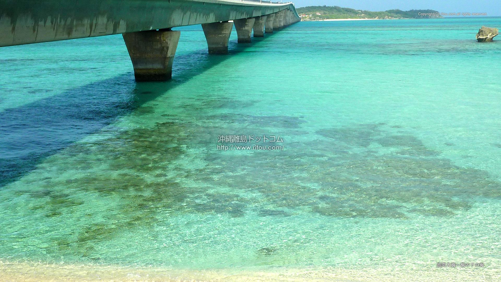 池間大橋〜橋の下の海