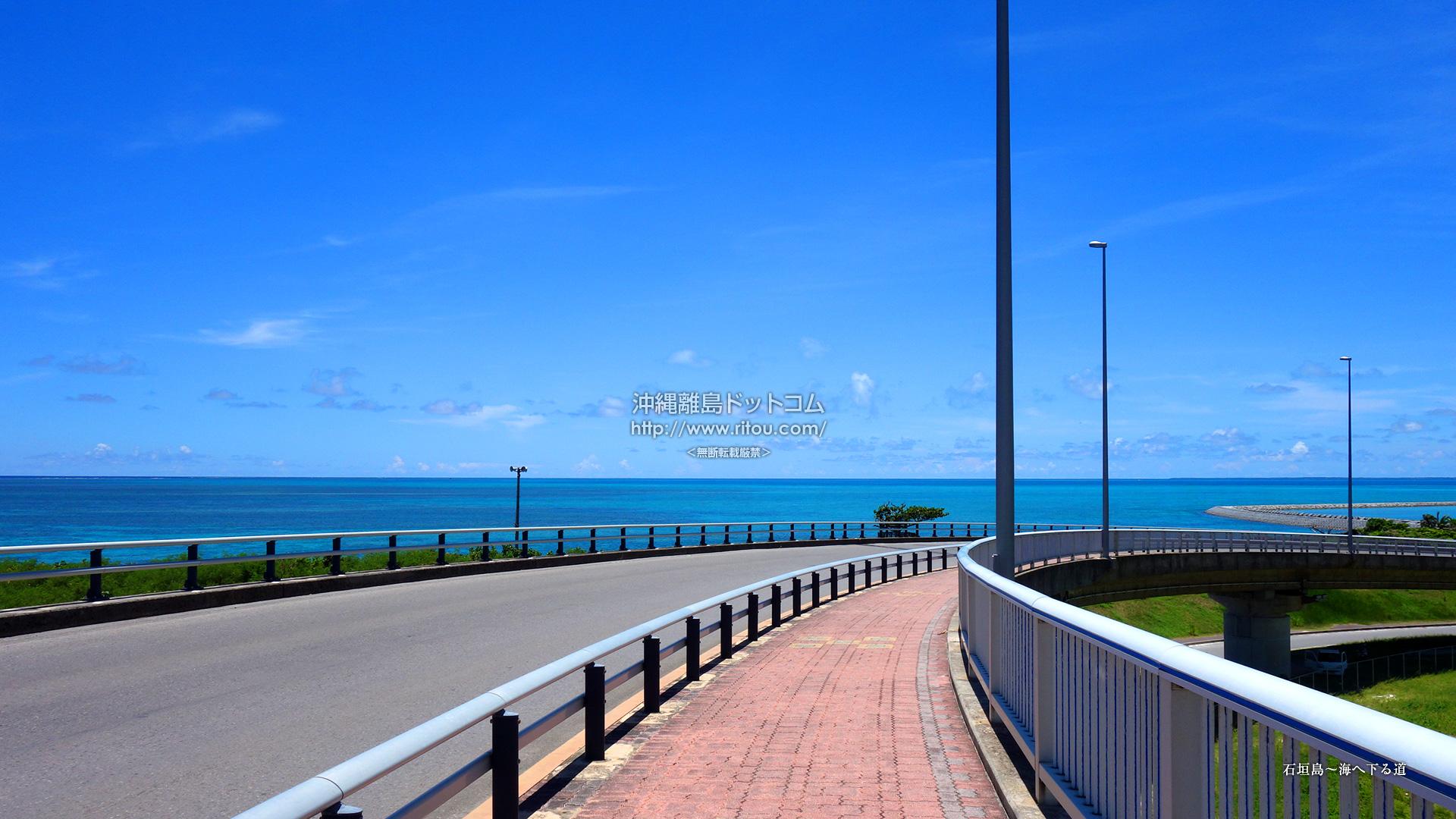 石垣島〜海へ下る道