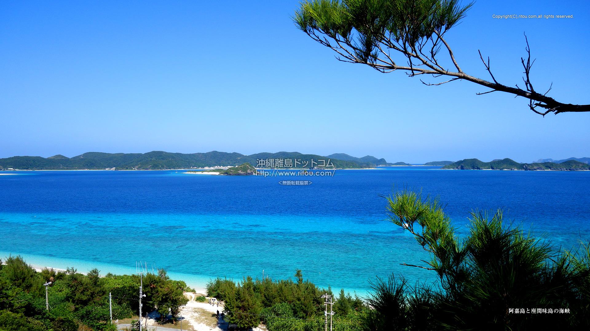 阿嘉島と座間味島の海峡