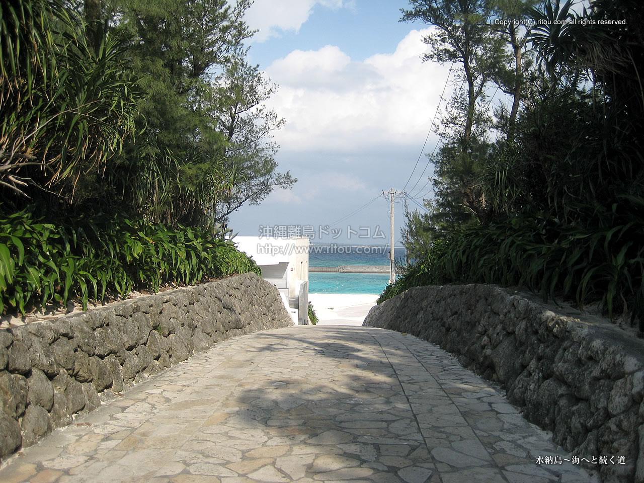 水納島〜海へと続く道