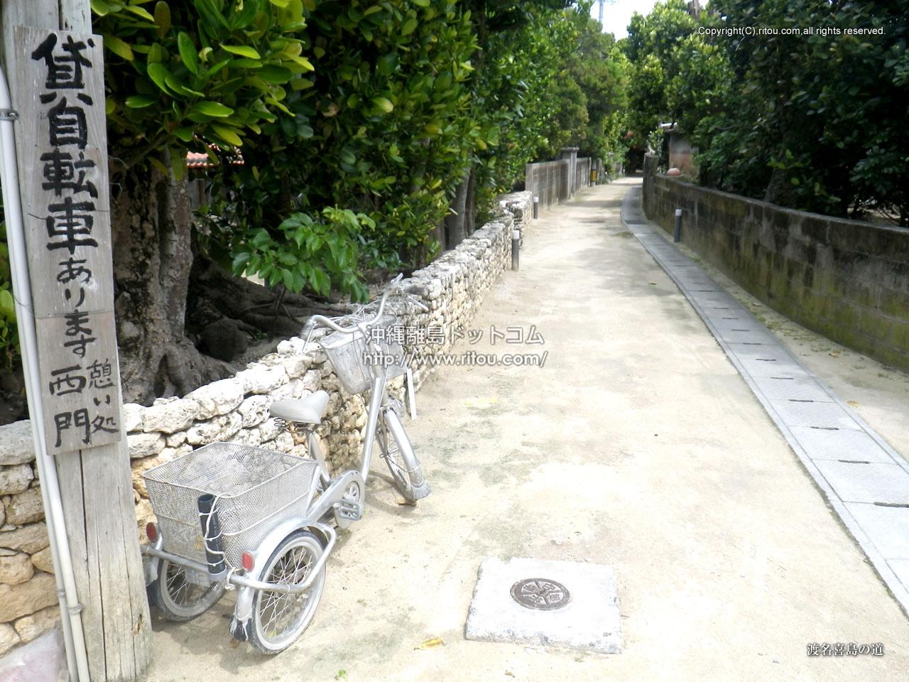渡名喜島の道