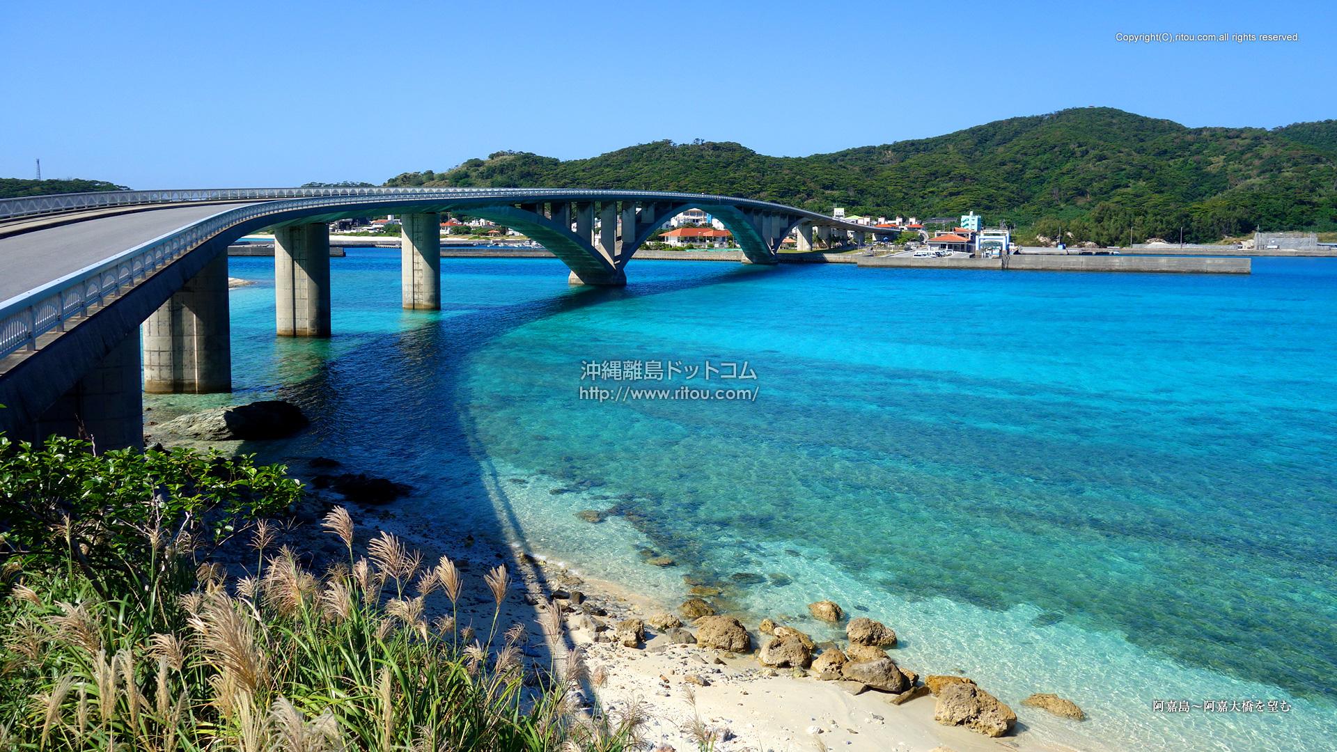 阿嘉島〜阿嘉大橋を望む