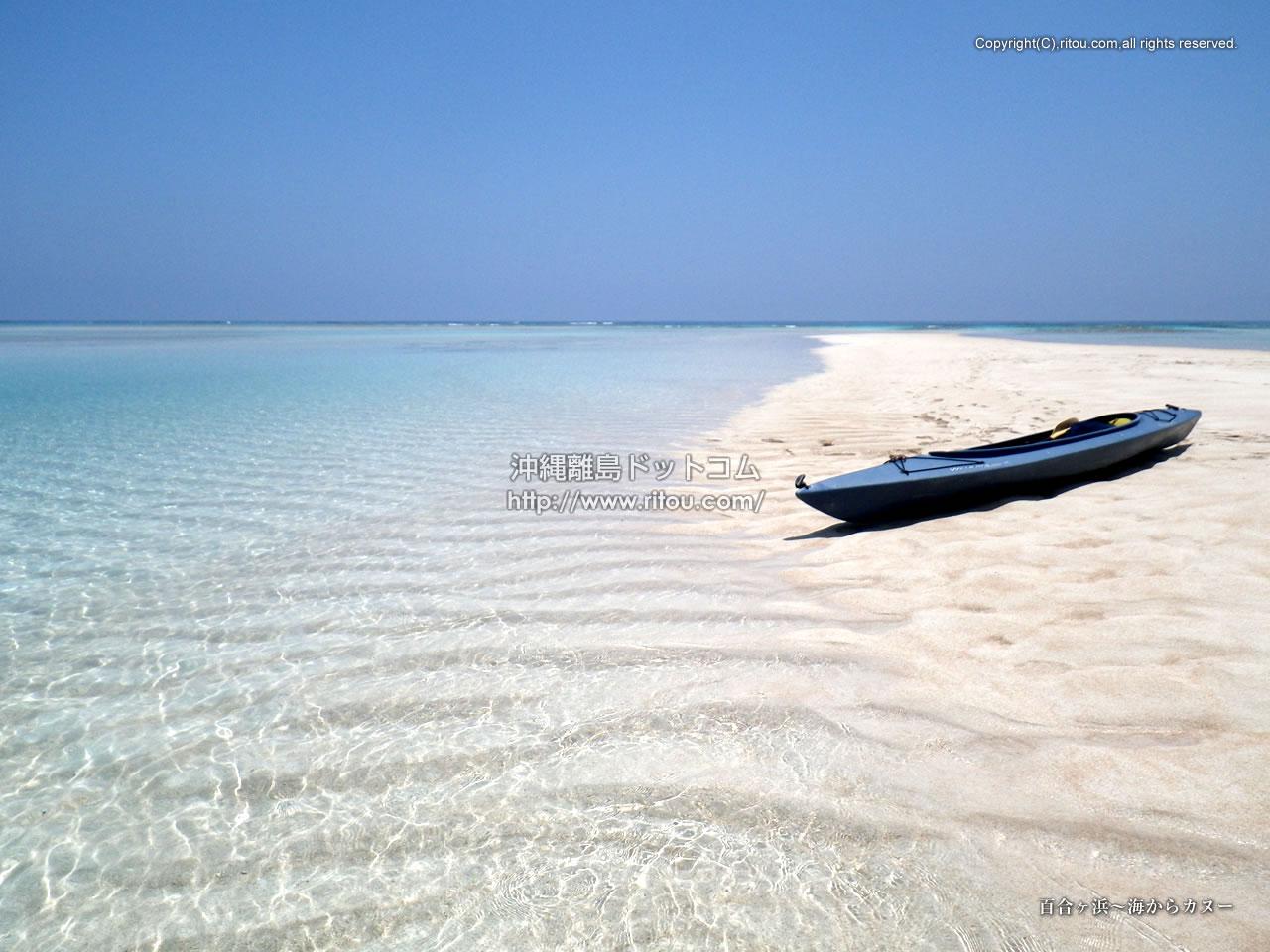百合ヶ浜〜海からカヌー