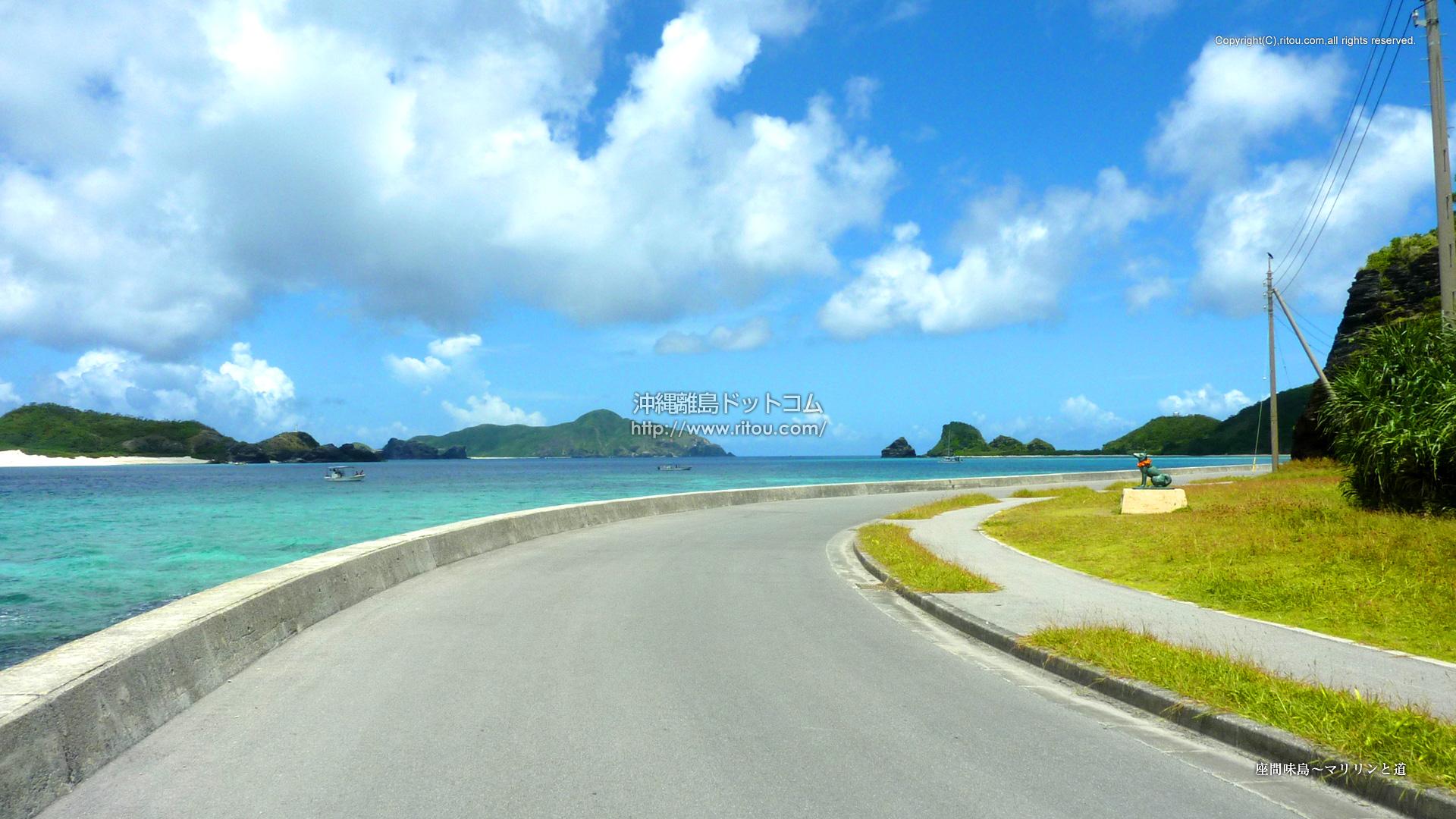座間味島〜マリリンと道
