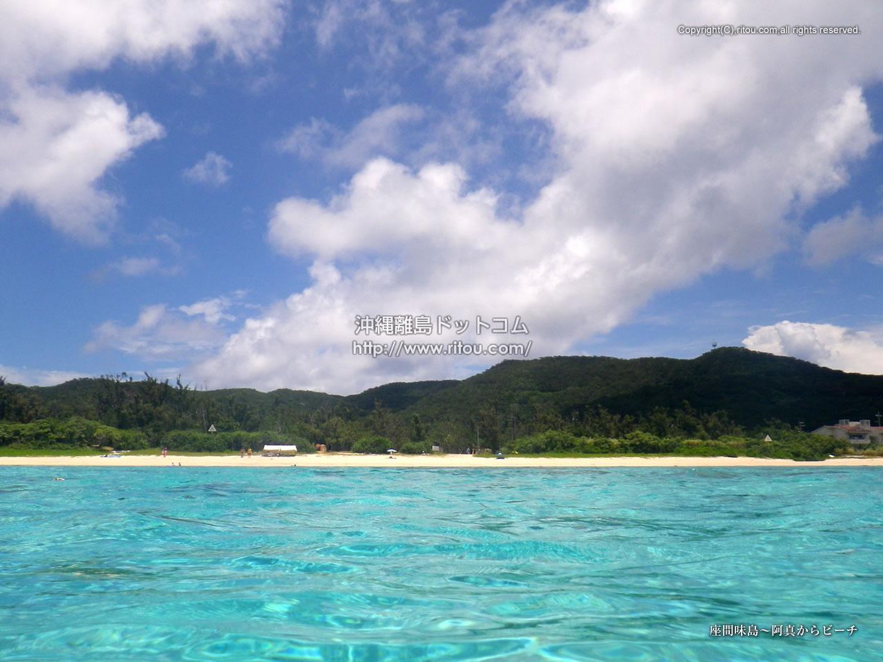 座間味島〜阿真からビーチ