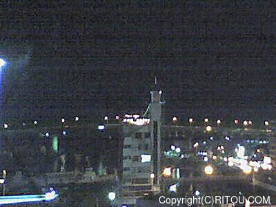 2012年11月21日 午後6時時半すぎの泊港ライブカメラ画像
