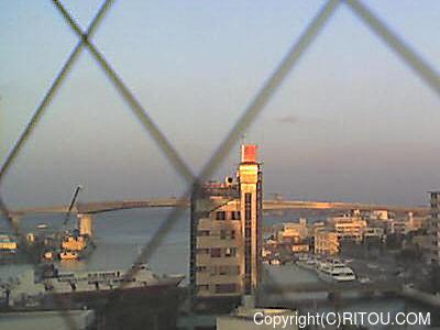 2012年11月14日 午前7時すぎの泊港ライブカメラ画像