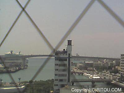 2014年5月17日 午後1時すぎの泊港ライブカメラ画像