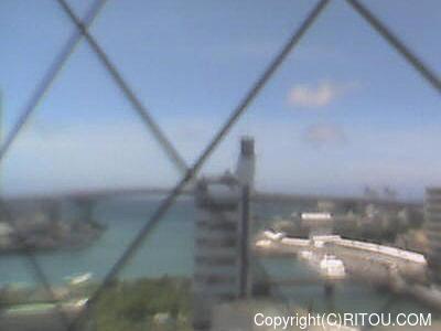 2021年5月16日 午後1時すぎの泊港ライブカメラ画像
