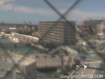 2018年08月18日 午後1時すぎの泊港ライブカメラ画像