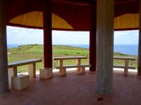 粟国島のマハナ展望台/休憩所 - 休憩所の中