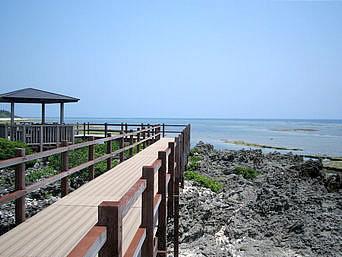 粟国島の運ん崎の遊歩道