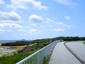 粟国島の運ん崎海岸「粟国集落からナビィの海までの海岸」