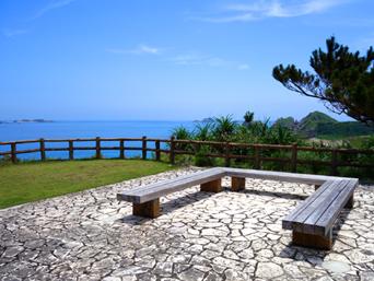 阿嘉島の天城展望台「集落から気軽に行ける展望台」