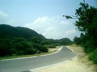阿嘉島の阿嘉ビーチ - 阿嘉港とニシ浜とを結ぶ道路の途中にある
