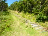 阿嘉島の後原展望台/クシバル展望台 - 階段を上った先に展望台