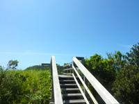 阿嘉島のニシ浜展望台 - 頂上が展望台