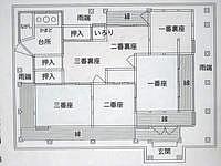 慶留間島の高良家住宅 - これが建物の平面図です