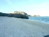 阿嘉島の砂白島へのルート - 途中の砂浜