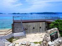 阿嘉島のニシバマテラス/ニシハマビーチテラス - ビーチ入口からの景観的にはイマイチ