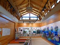 阿嘉島のさんごゆんたく館/慶良間諸島国立公園ビジターセンター - 奥は展示コーナーや多目的室