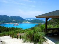 慶留間島の慶留間島横断道 阿嘉大橋側/展望台 - 休憩所からの景色が一番良いかも