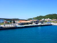 阿嘉島のフェリーターミナル/阿嘉島観光案内所