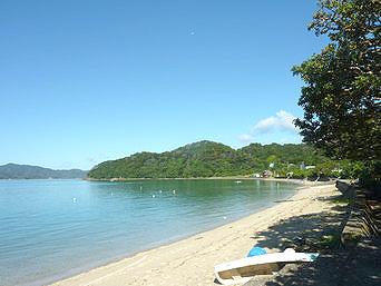 奄美大島の清水海岸「広々とした海岸線です」