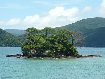 白浜の小島