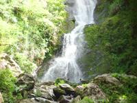 奄美大島のフナンギョの滝 - 岩場の途中に滝壺?あり