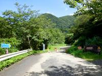 奄美大島のフナンギョの滝への道のり - 基本的に非舗装路でカーブも多い