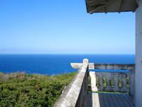 奄美大島の蒲生崎観光公園/蒲生神社/絆の池 - 高台からの景色は・・・水平線のみ?