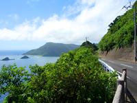 奄美大島の曽津高崎までの海岸線