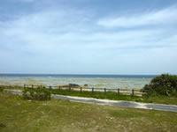 奄美大島のコーラルパームス前の海
