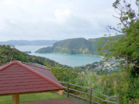 奄美大島のハートが見える展望台 - ハート型に見えるポイントはかなり微妙な位置