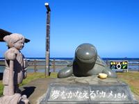 奄美大島の笠利崎/用岬/夢をかなえる「カメ」さん - 浦島伝説がある奄美大島