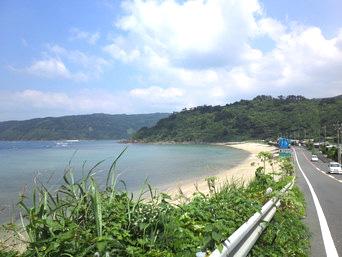 大和村周辺の西側の海