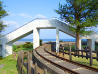 奄美大島のあやまる観光公園/海水プール/サイクル列車の写真